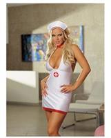 2 pc bedroom nurse stretch satin dress