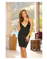 Microfiber low neckline, knee length chemise with back embroidery