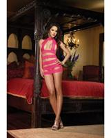 Stretch Scalloped Lace Chemise and Thong