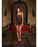 Halter Fringe Chemise and Thong