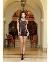 Seamless Stretch Mesh Halter Chemise with G-String