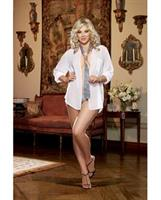 Oversized Men's Chiffon Shirt with Thong