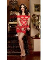 Seamless Strappy Heart Chemise with G-String