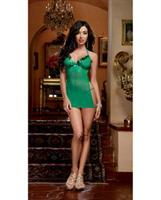 Sequin Trim and Stretch Mesh Halter Chemise