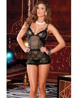 Lace Chemise and G-String Set