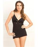 Bow Tie Chemise with G-String Set