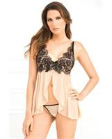 Bowtie Chemise and G-String Set