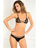 Rene Rofe Provactive Lace Bra and Panty Set