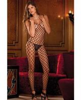 Rene rofe diamond net footless bodystocking black