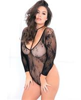 Rene Rofe Hot Bodies Choker Bodysuit Black
