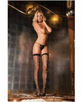 Sparkle Diamond Net Thigh Highs