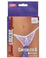 White lace Crotchless g-string