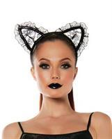 Roleplay Lace Cat Ears Black