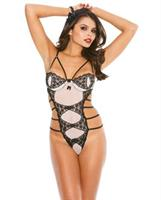 Mesh and Traingular Lace Thong Teddy
