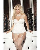 Tapestry Corset w/Removable Garters and G-String Ivory