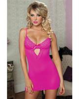Neon Lace and Mesh fitted Chemise