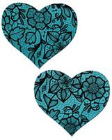 Tease Blue Lace Print Heart