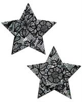 Tease Silver Lace Print Star