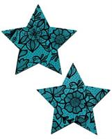Tease Blue Lace Print Star
