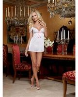 Stretch Mesh and Lace Babydoll with Panty