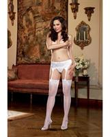 Satin Front Garter Belt with Adjustable Garter Straps