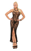 Butterfly lace slip style gown with front slip