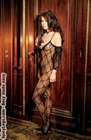 Bow tie lace bodystocking