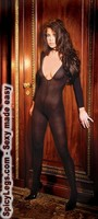 Opaque long sleeve bodystocking
