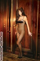 Seamless lycra crochet bodystocking