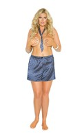 Charmeuse satin unisex boxer short with matching tie.
