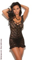 Ruched Lace Babydoll and Matching G-string