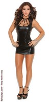 Wet Look Mini Dress