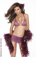 Bra top and skirt with attached g-string