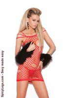 Cupless net mini dress