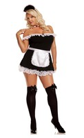 Sexy Maid- 4 pc. Costume includes dress- apron- neck piece and head piece