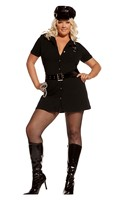 Officer Arrest Me- 4 pc. Costume includes dress with detachable belt- vinyl hat and handcuffs