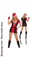 6 pc Bulls Eye Babe Costume