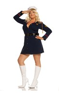 Gentlemans Officer- 3 pc. Costume includes long sleeve mini dress with belt and hat