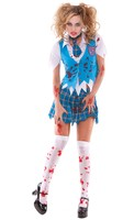 4 pc. School Girl Specter Costume