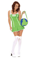 3pc Go Green Girl Costume