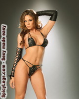 3 piece set. Leather string bra top, lace up gloves and g-string