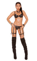 Leather garter belt with 8 straps