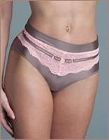 Microfiber and Lace Brief Panties