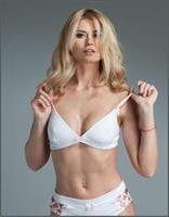 Natural Silk Jersey Triangle Bra White/Pink