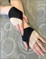 Fingerless Gloves Lace and Spandex