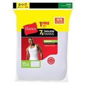 Hanes Men's TAGLESS ComfortSoft A-Shirt 7-Pack (Includes 1 Free Bonus A-Shirt)