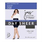 JMS Smooth Finish Regular Reinforced Toe Panty Hose 2 Pair Pack