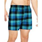 Hanes Men's TAGLESS Ultimate Fashion Boxer with Comfort Flex Waistband Assorted Pattern Blues 3-Pack