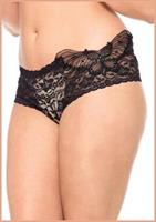 Sequin butterfly lace tanga