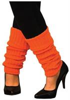 Adult Neon Orange Leg Warmers